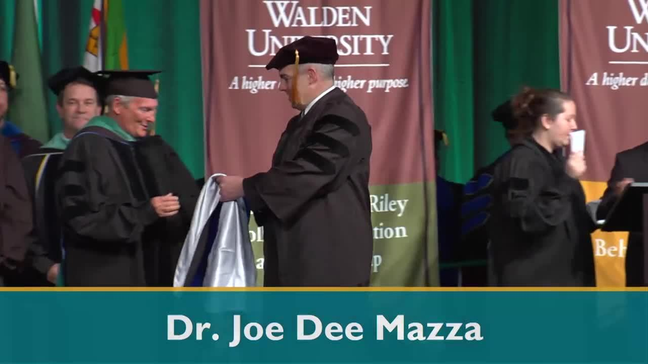 2018 Walden Winter Doctoral Hooding Ceremony