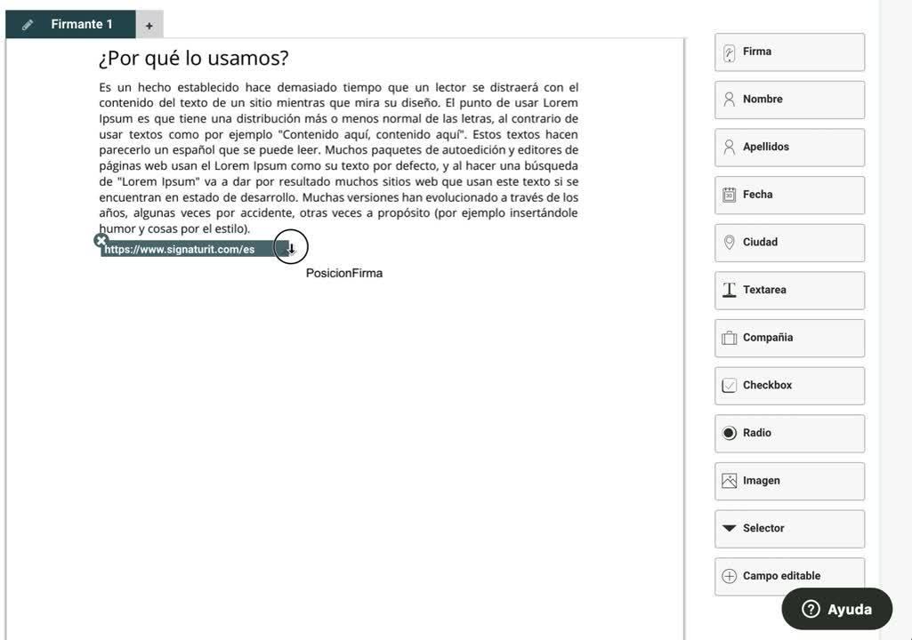 URL widget