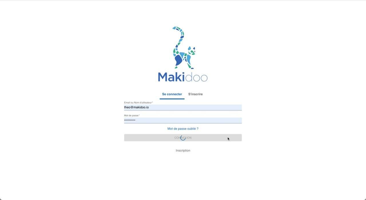 Connexion Makidooweb