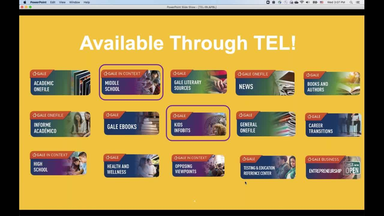 For TEL: Using Gale Resources for Project-based Learning Thumbnail