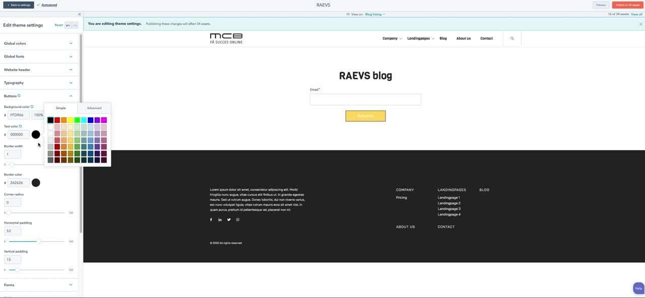 RAEVS Button