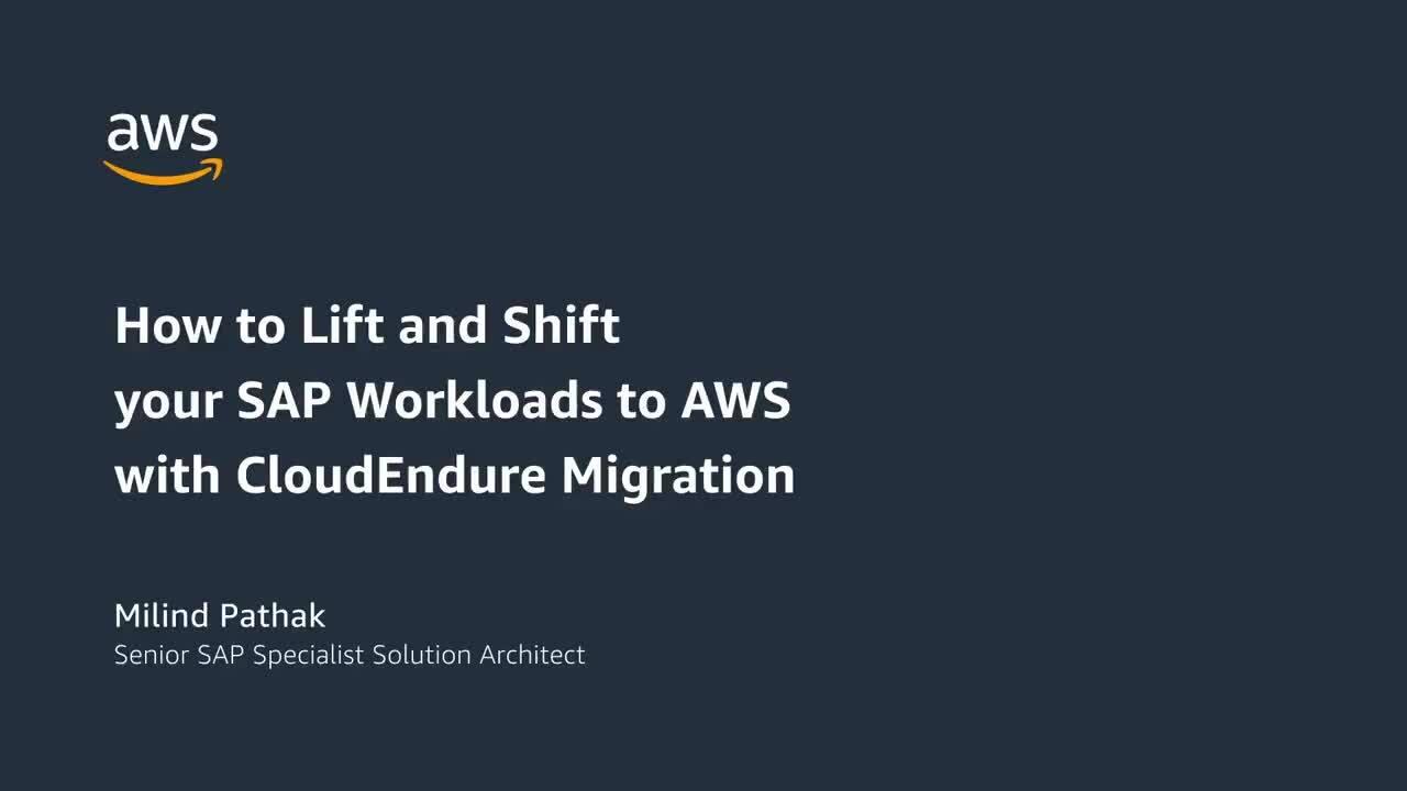 AWS Cloudendure for SAP