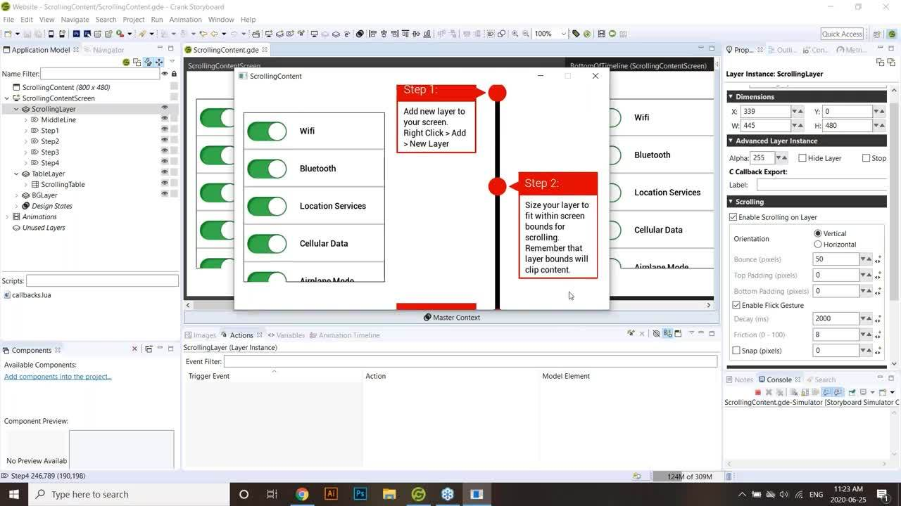 Working with Tables and Scrolling Content within Storyboard User Training Webinar