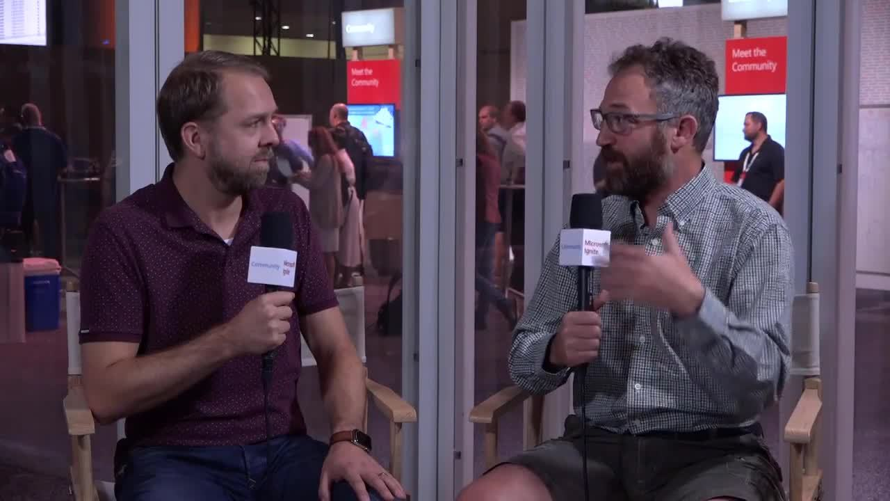 Microsoft Ignite 2018 reportage Portiva - interview met Mark Kashman