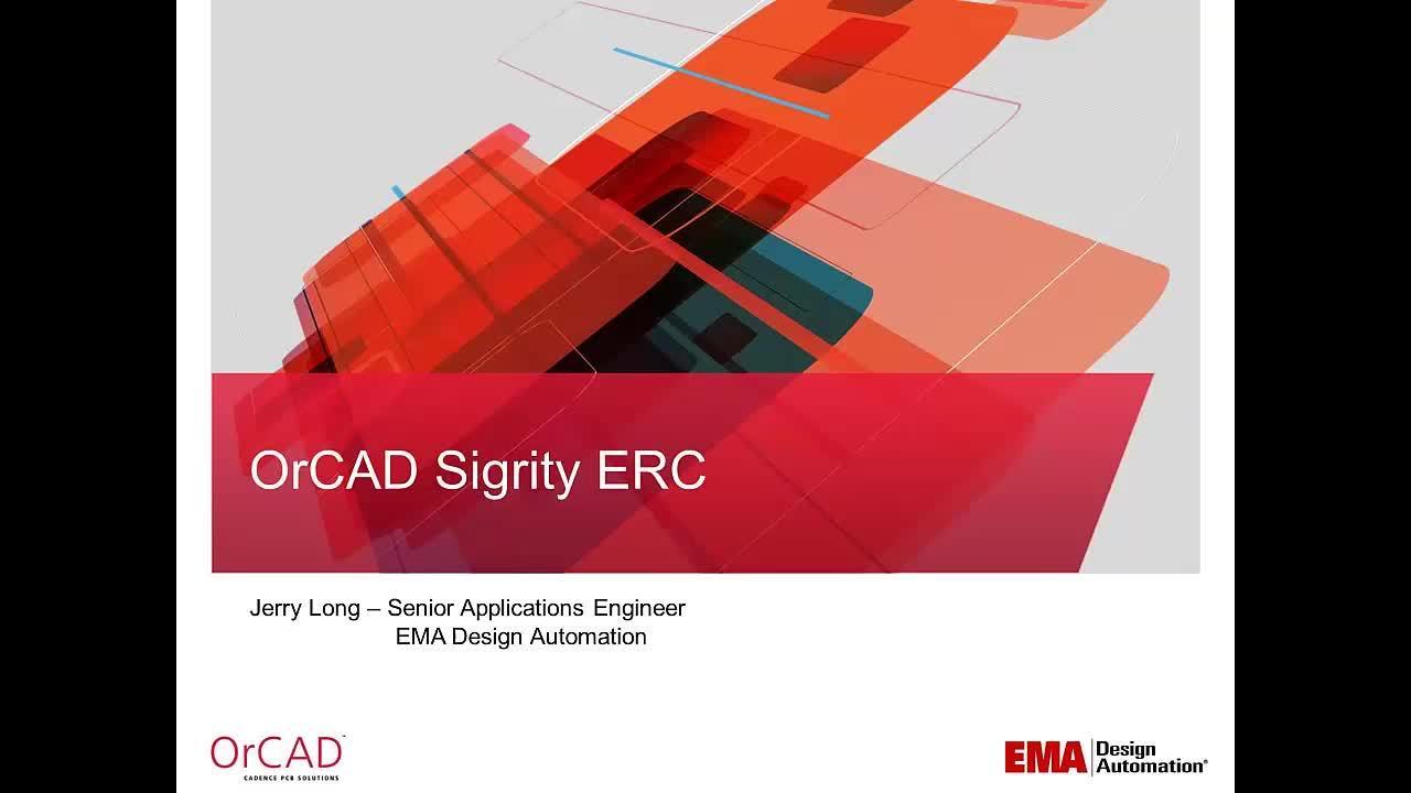 On-Demand Webinar: OrCAD Sigrity ERC