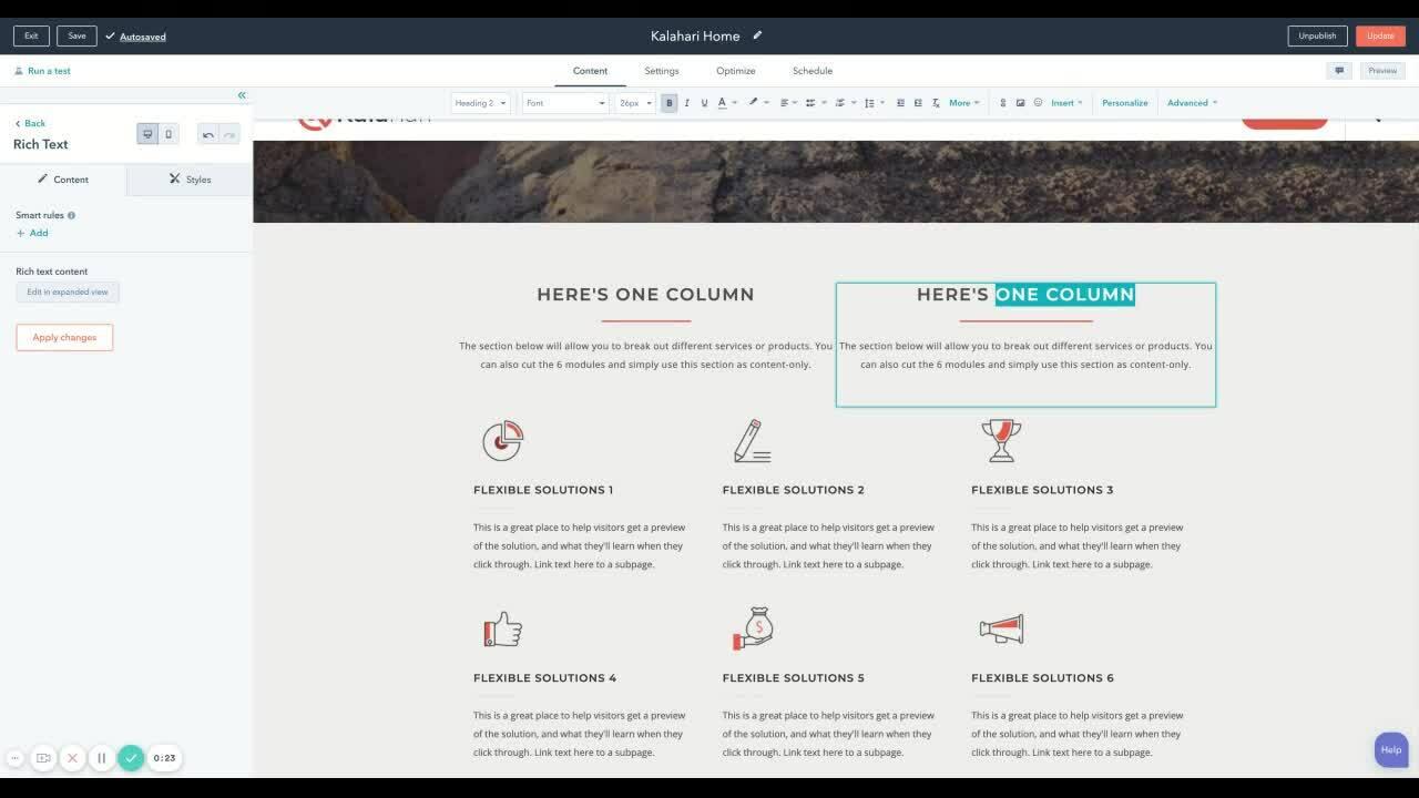 Theme Page Editing