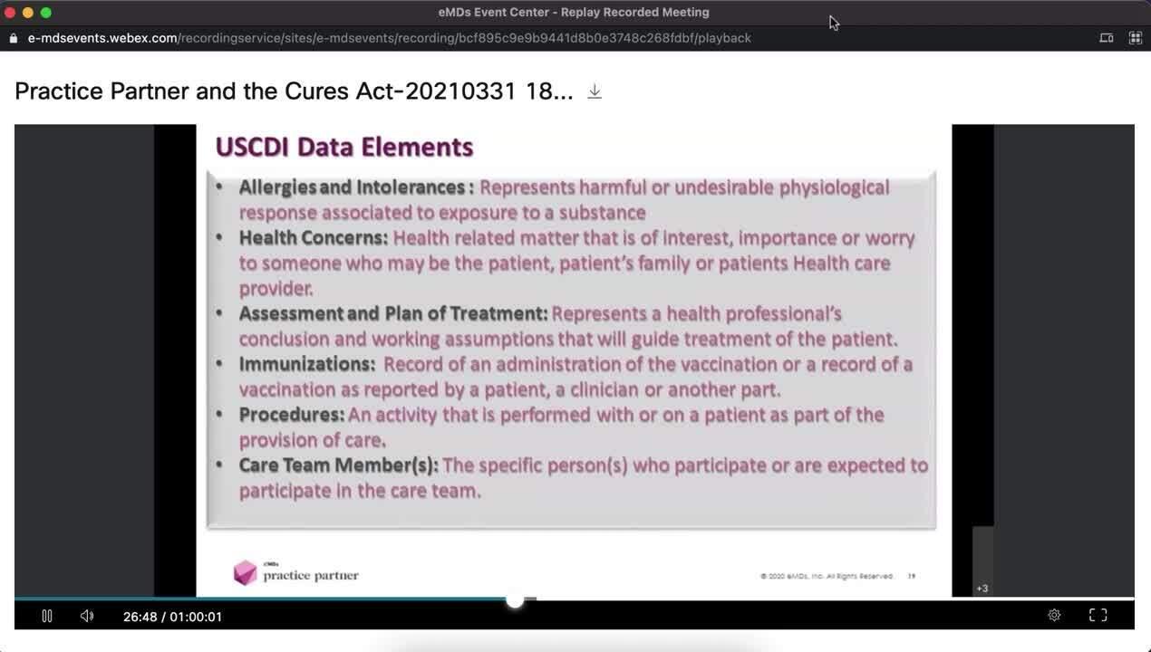 EMDS 21ST Century Cures Webinar
