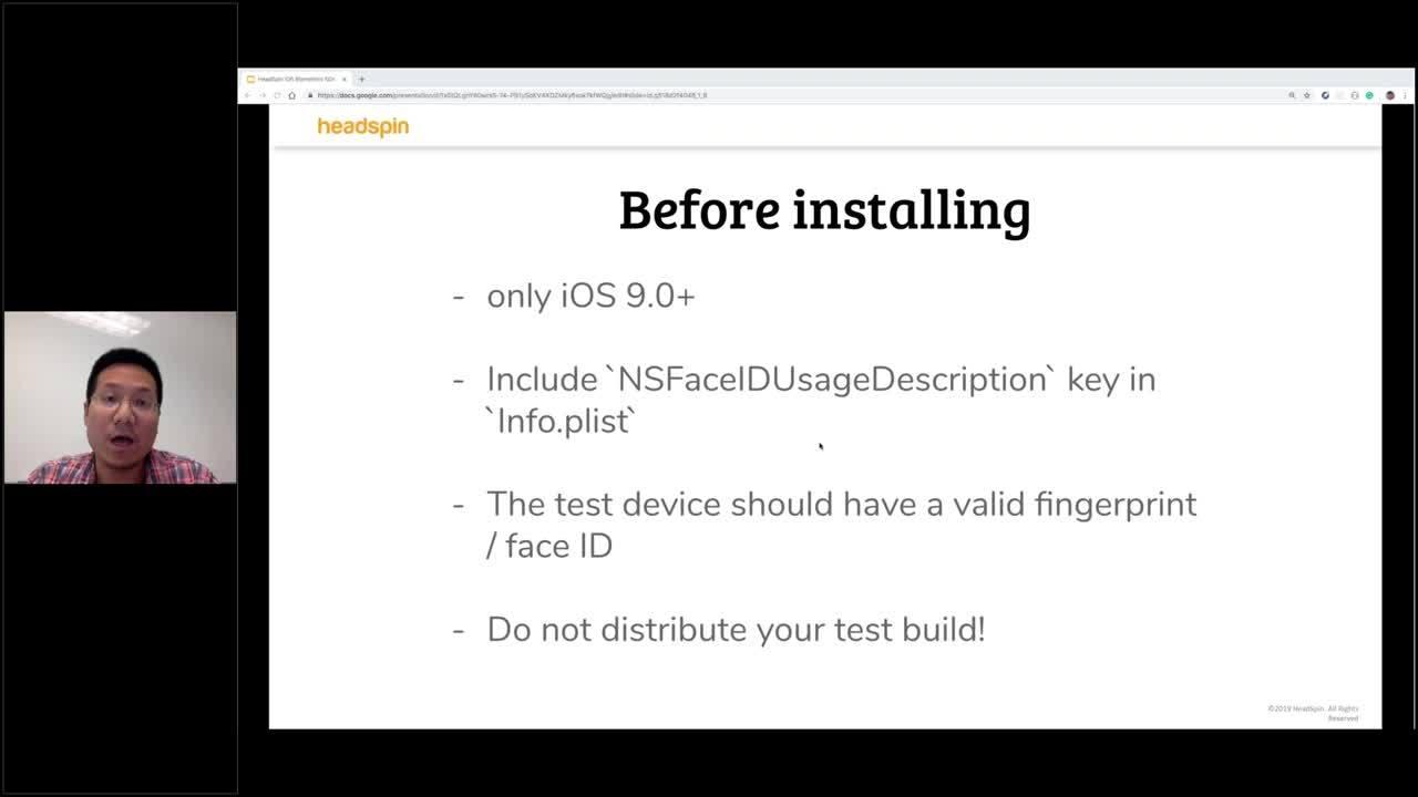 Testing Biometrics on iOS