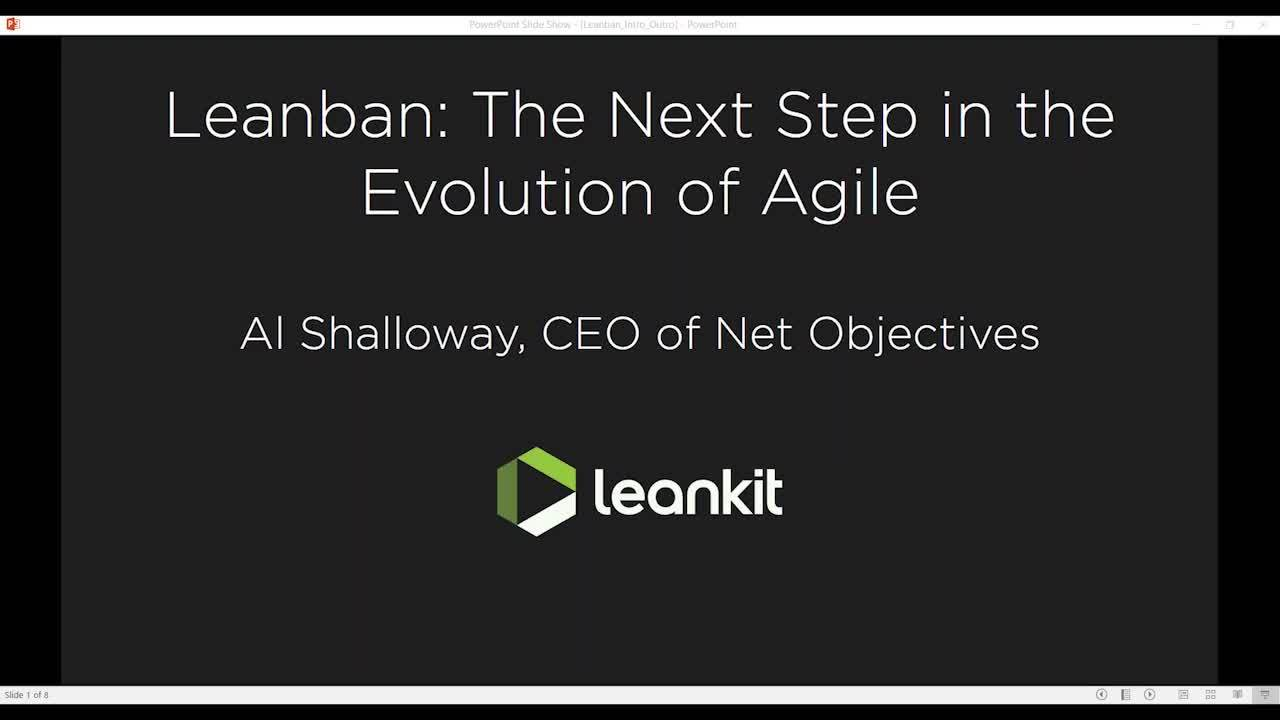 Video: Leanban: The Next Step in the Evolution of Agile