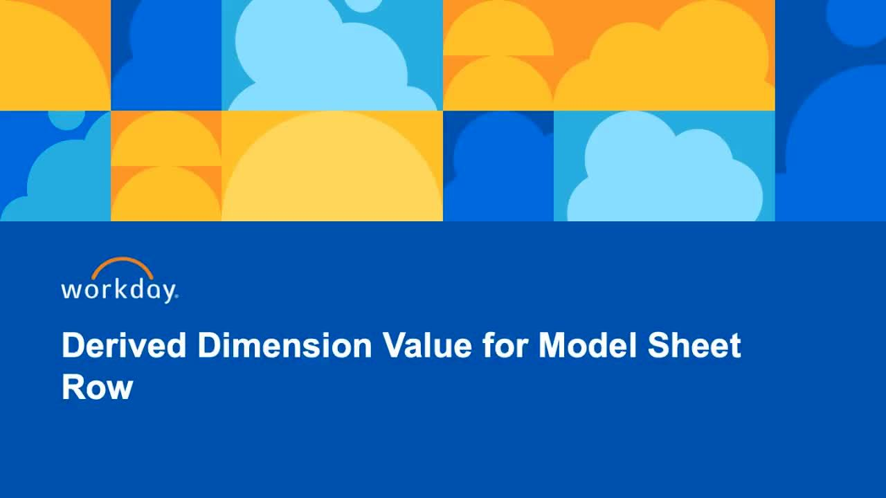 Derived Dimension Values on Model Sheet Rows