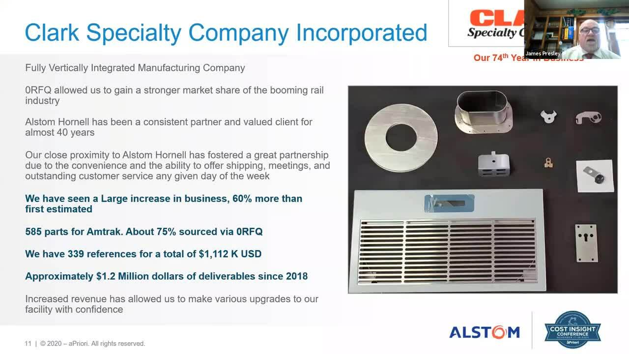 Zero RFQ Process - Alstom - Clark Specialty Company Introduction and Partnership