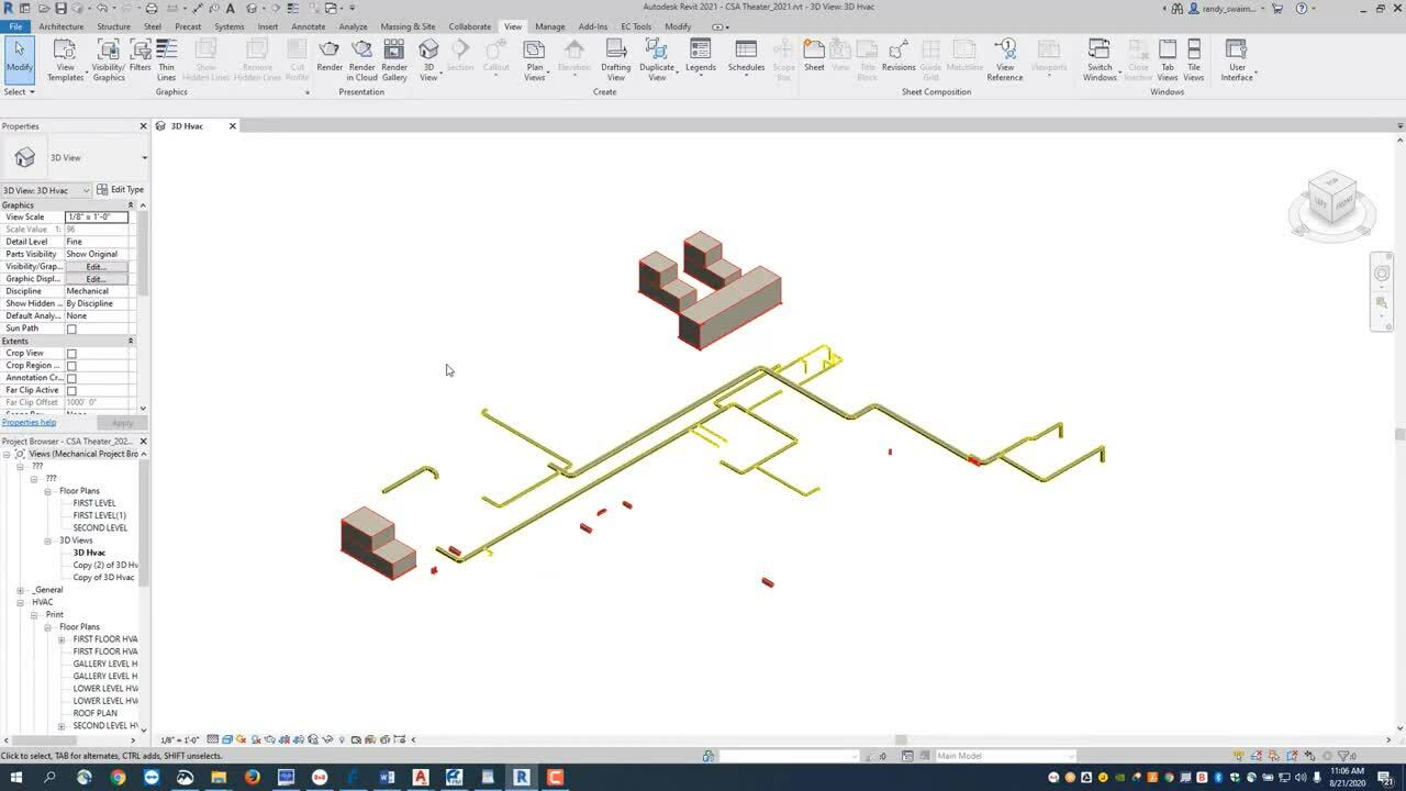 EC-CAD Sheet Metal Training Exercise Part 20: Preparing Revit Models to be Exported to EC-CAD