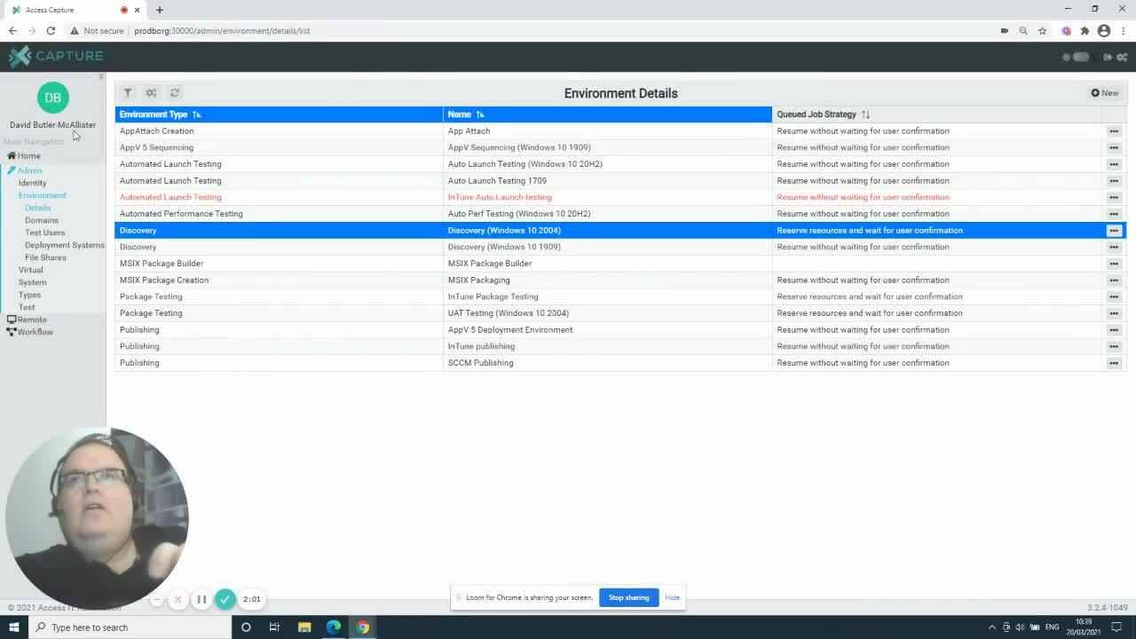 Access Capture - Application Discovery