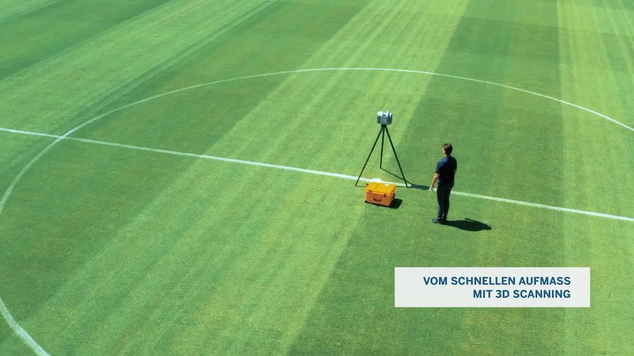 Trimble 3D-Scan- & Modellierungsservice im Austria Wien Fußballstadion