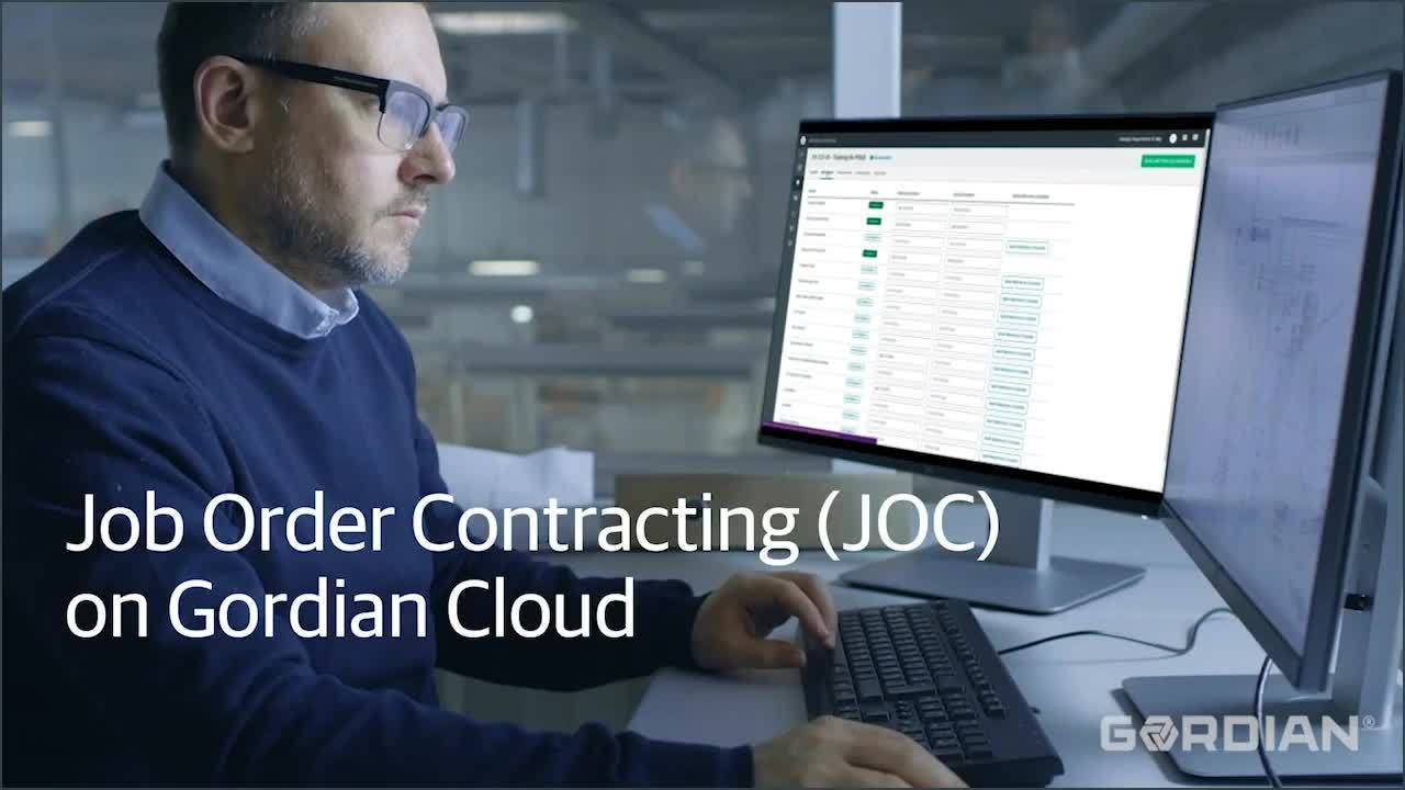 Job Order Contracting on Gordian Cloud