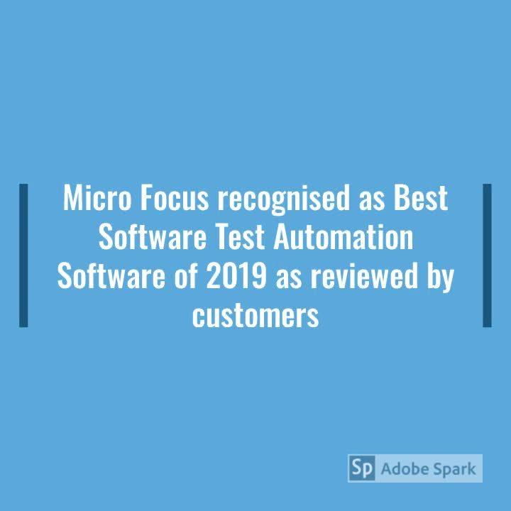 MicroFocus Award