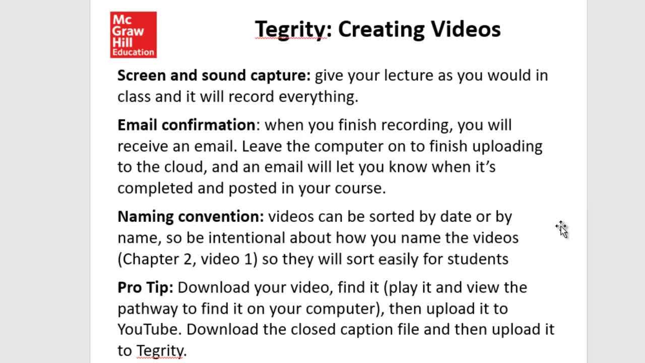 Tegrity Basic Proctoring and Video Capture for Economics