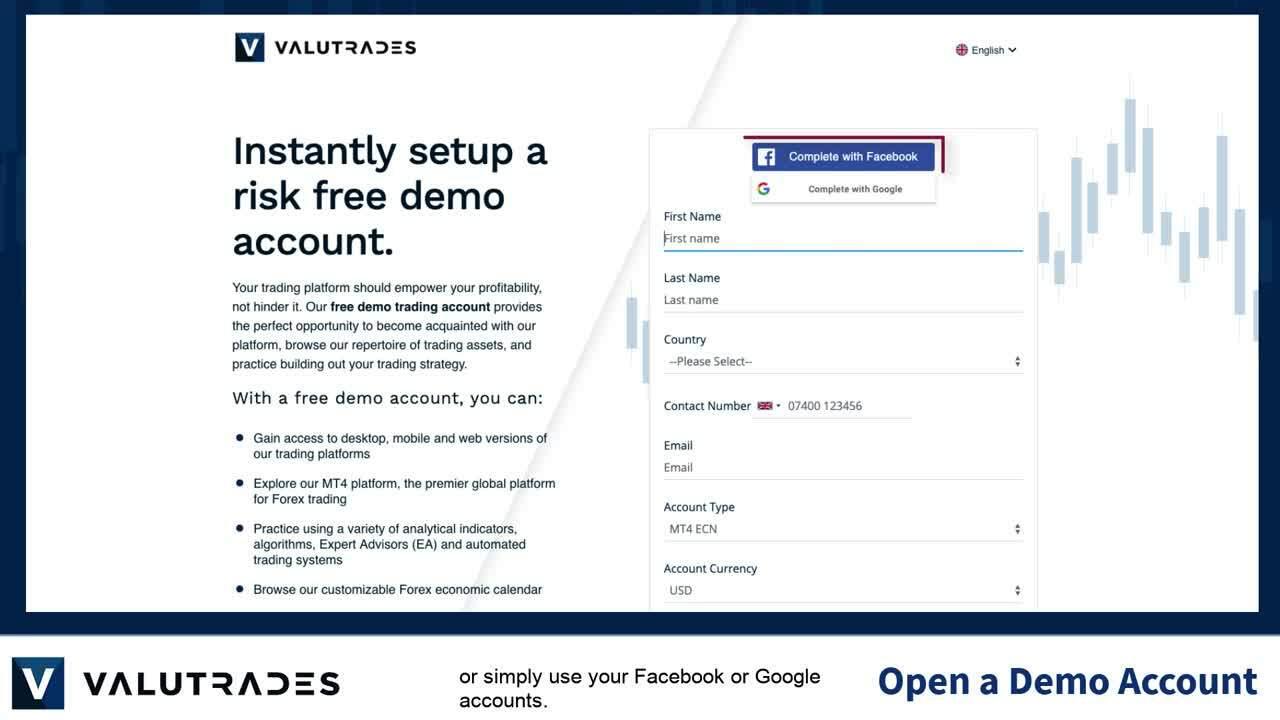 1 Open a VT Demo Account