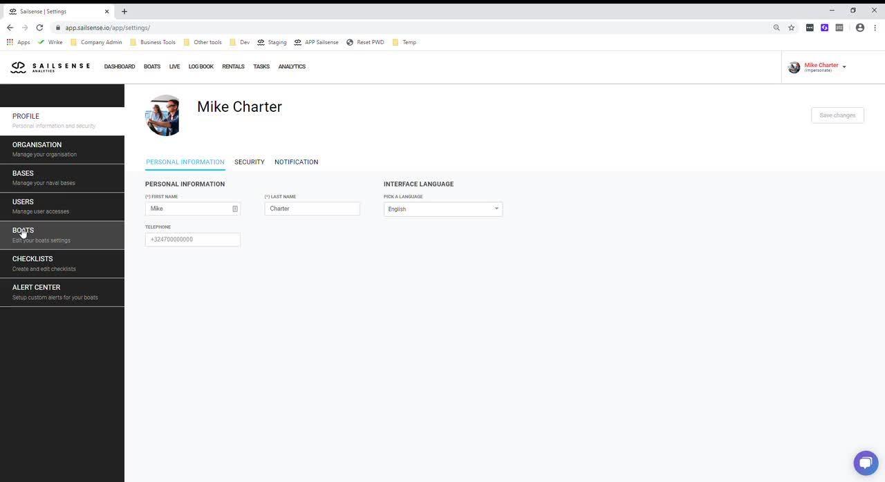 Sailsense _ Dashboard - Google Chrome 2020-03-10 15-36-16