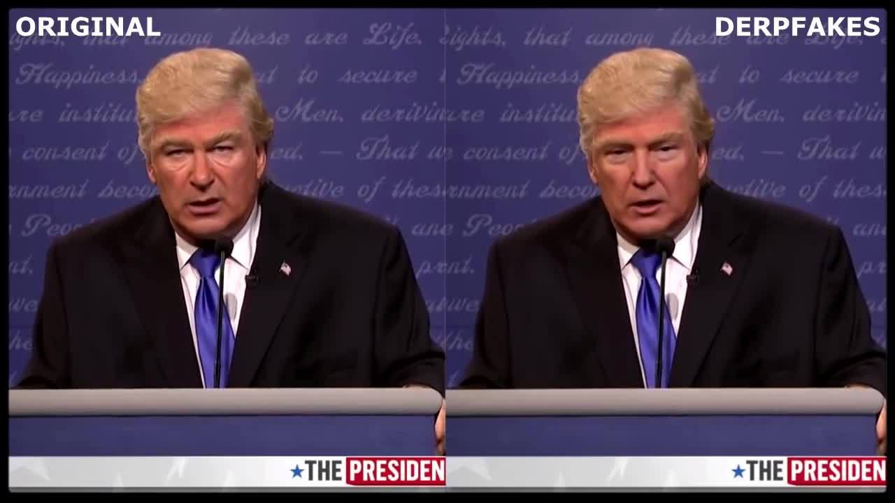 Trump  Deepfakes Replacement