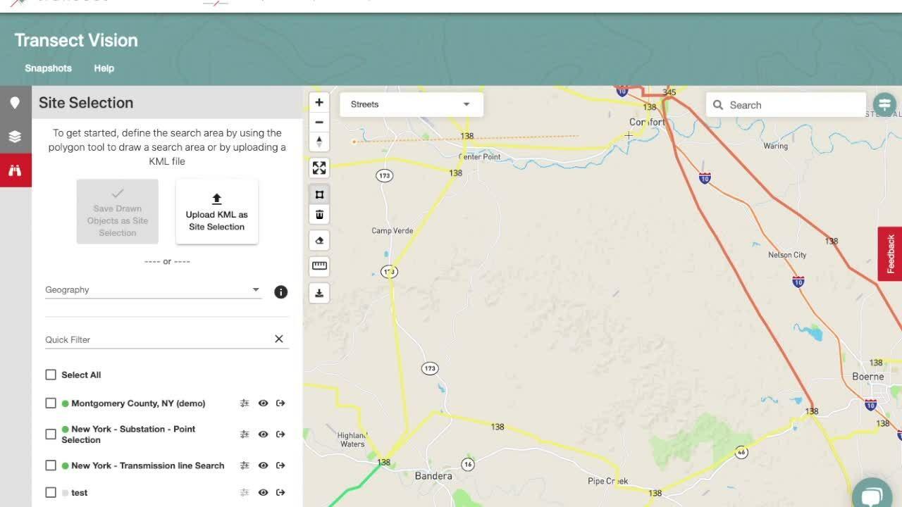 search area - polygon
