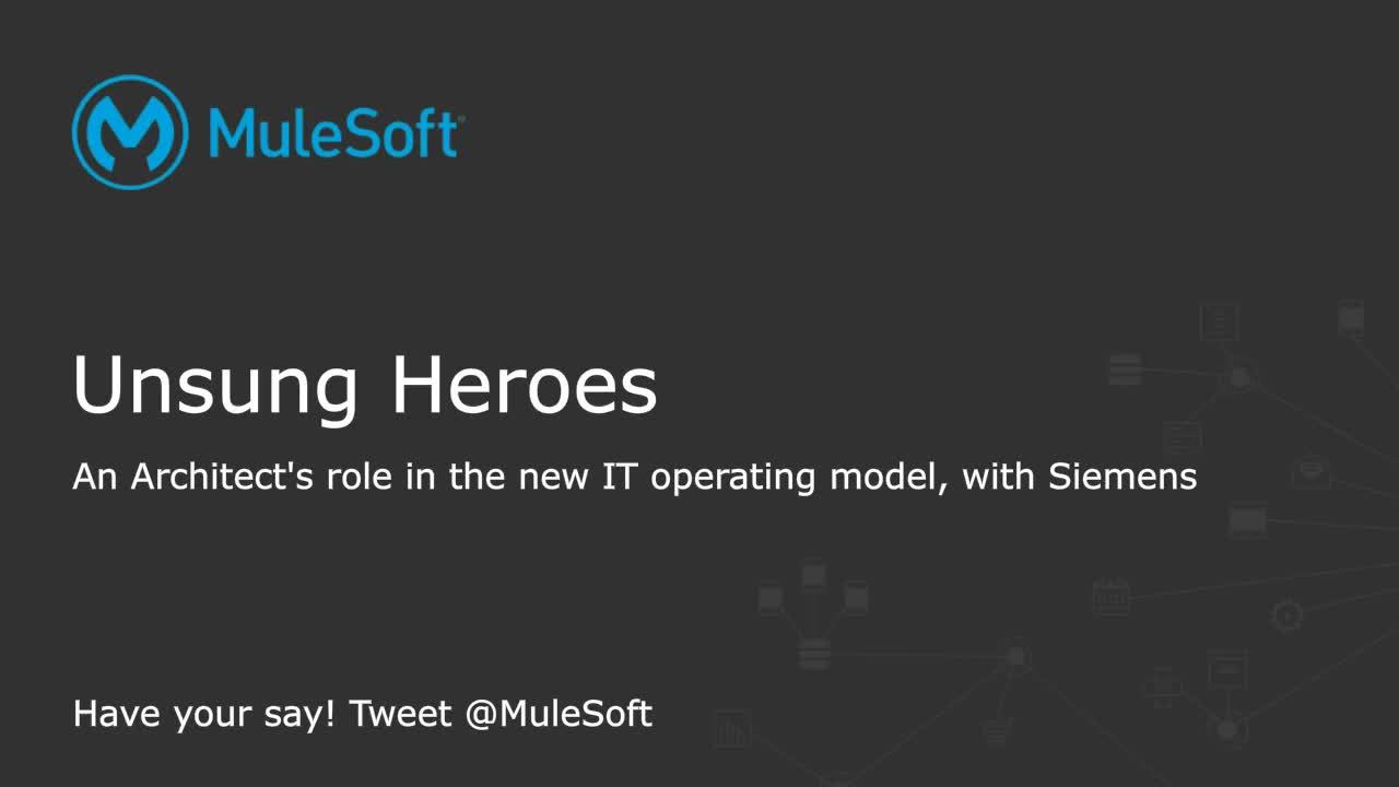Webinar: Unsung heroes: an architect's role in the new it operating model, with Siemens
