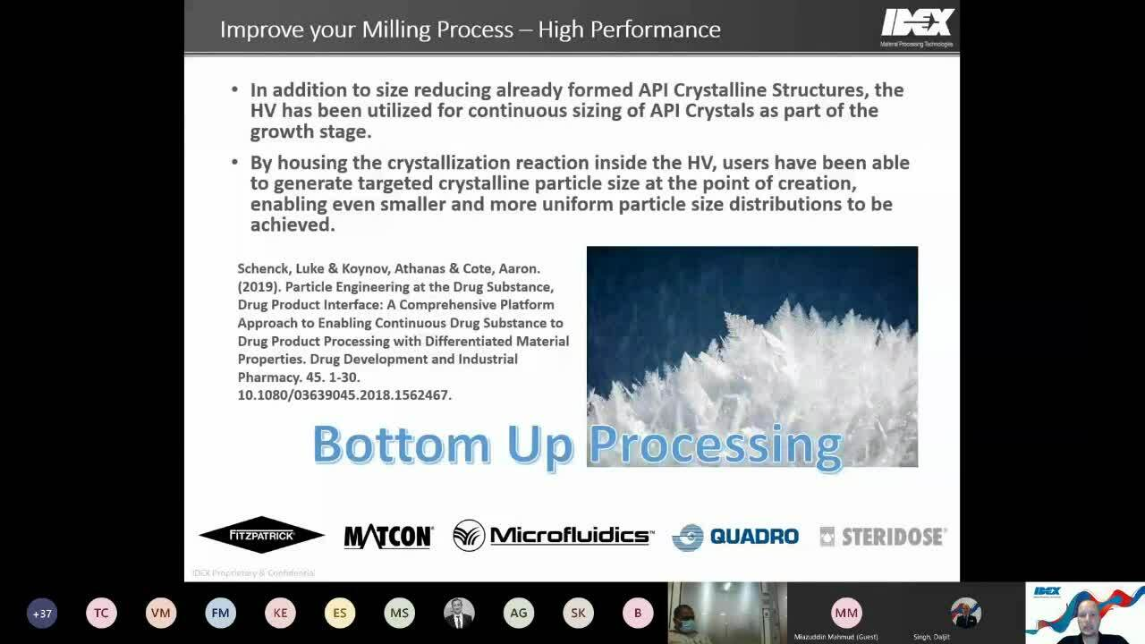 API Wet Milling Webinar - 3 Ways to Improve your Wet Milling Processes