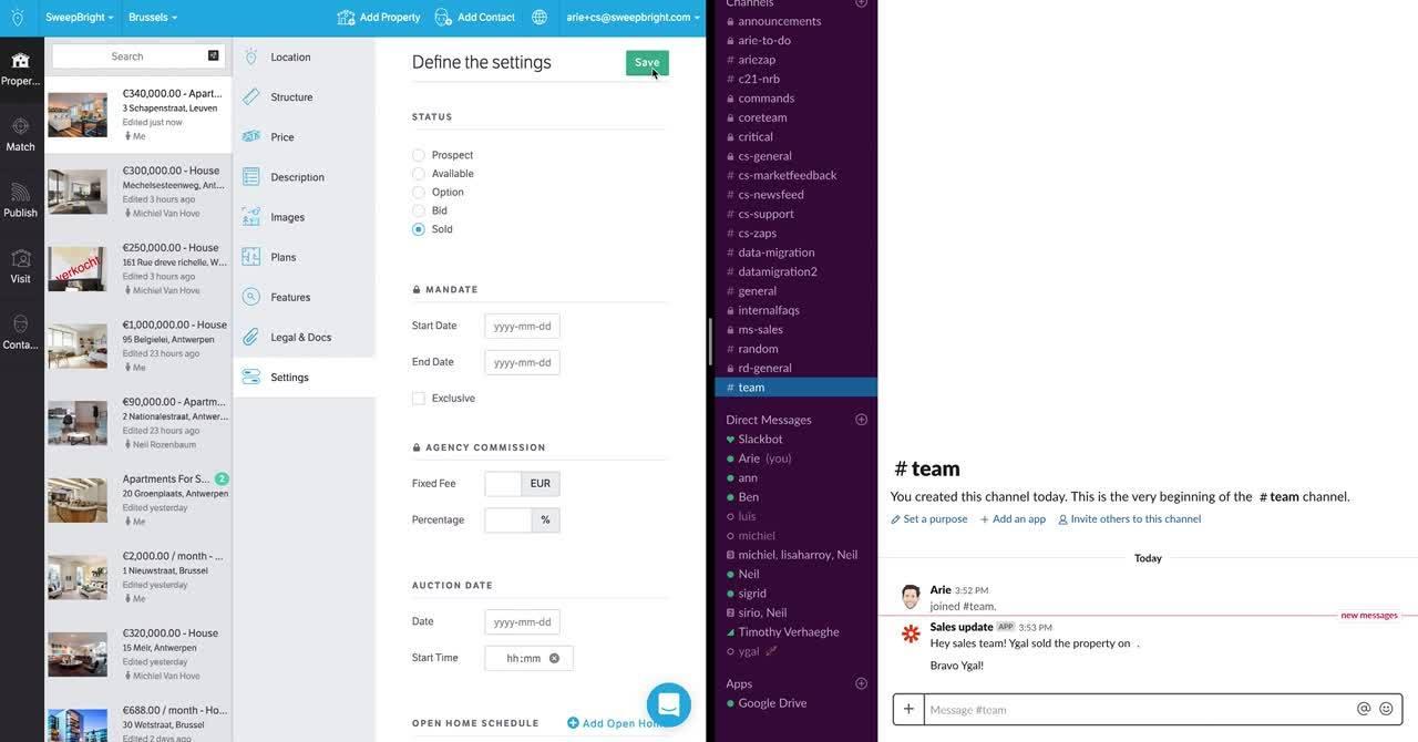 SweepBright-Slack-automation