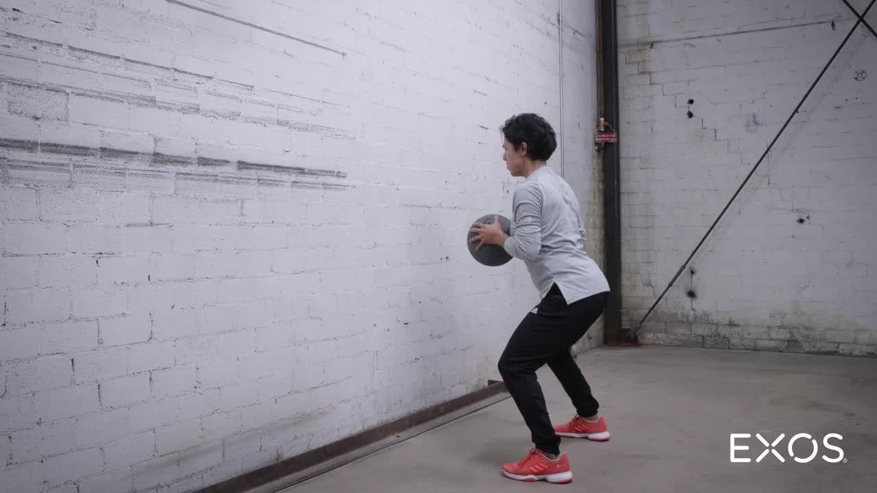 Medicine Ball Chest Pass - Standing