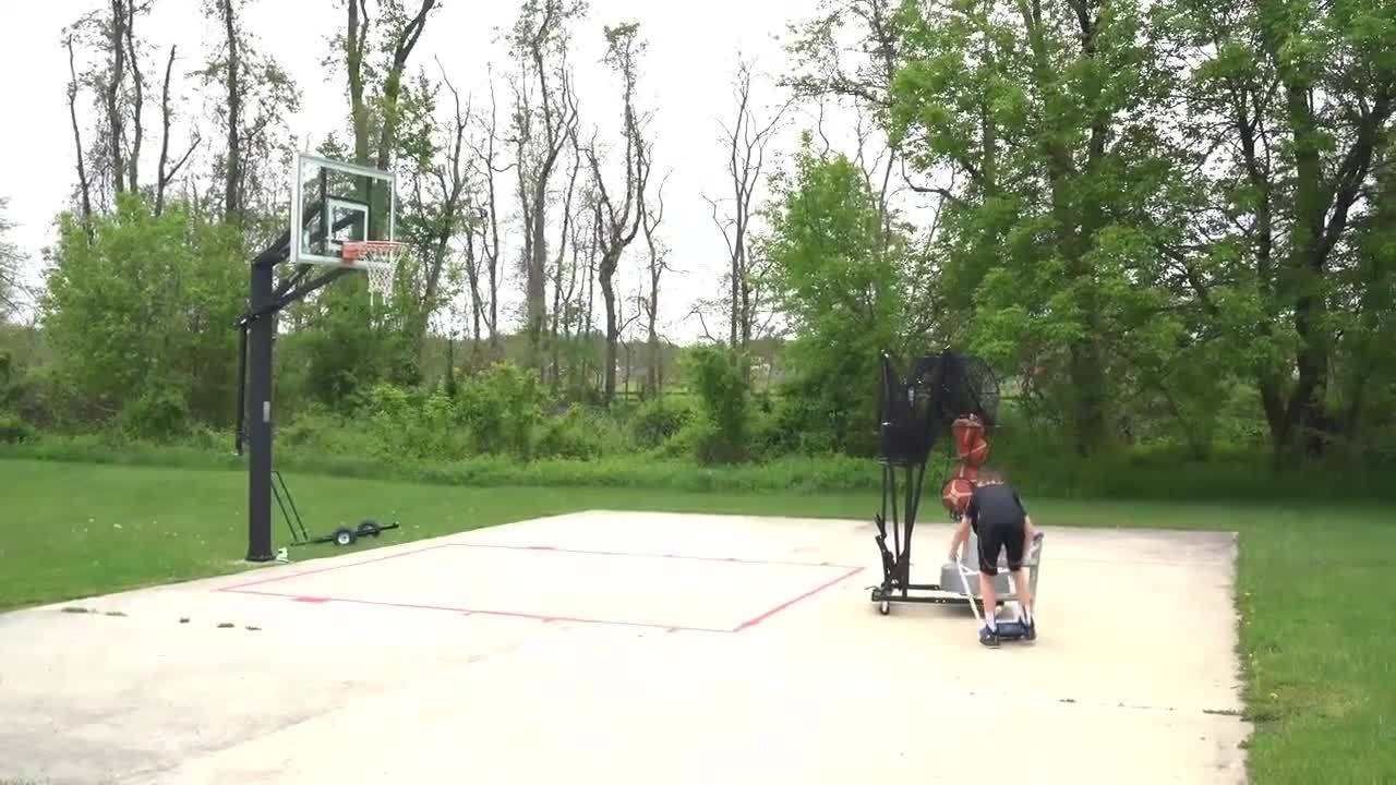 Dr. Dish Basketball Shooting Machine Setup - Outdoor Use