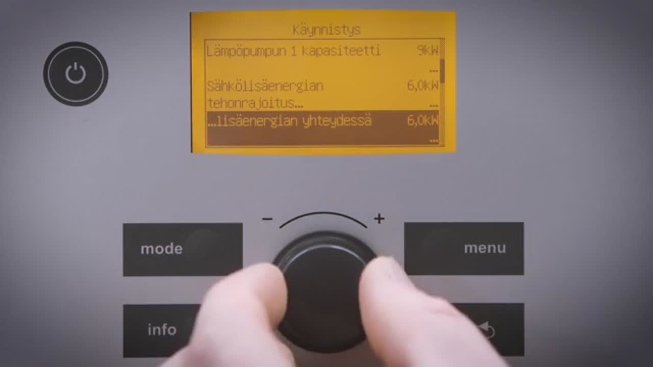 Bosch Compress 5000 käyttöönotto