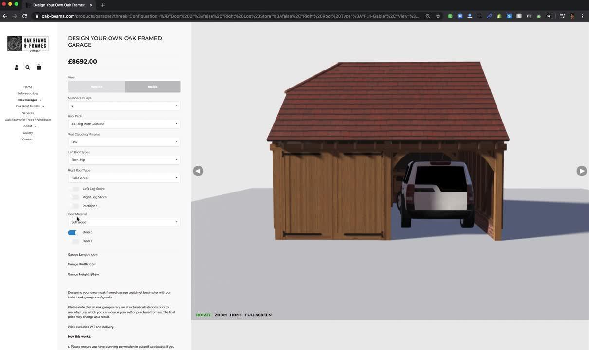 Threekit Garage Builder with Parametric Configuration