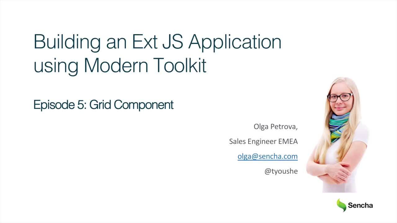Grid Component: Building an Ext JS Application Using Modern Toolkit