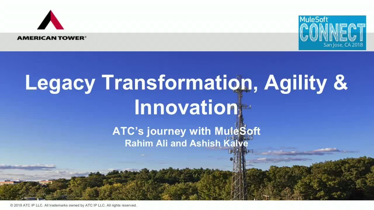CONNECT 2018: Supercharge Legacy Transformation. An ATC Journey
