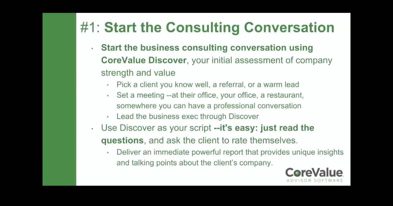 CoreValue-Proven Process to Win New Engagements