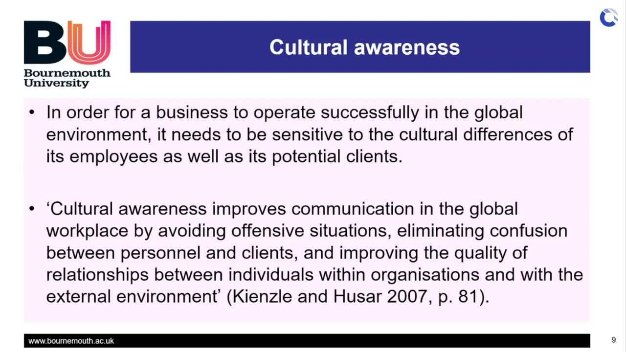 Cultural Awareness - Dr Lim