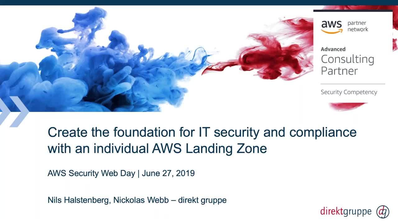 IT-Security und Compliance mit einer individuellen AWS Landing Zone