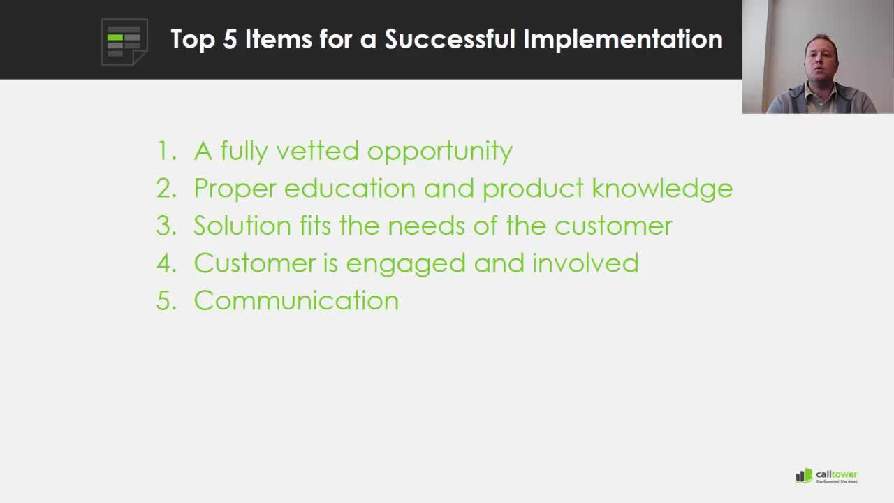 5 Items For Successful Implementation