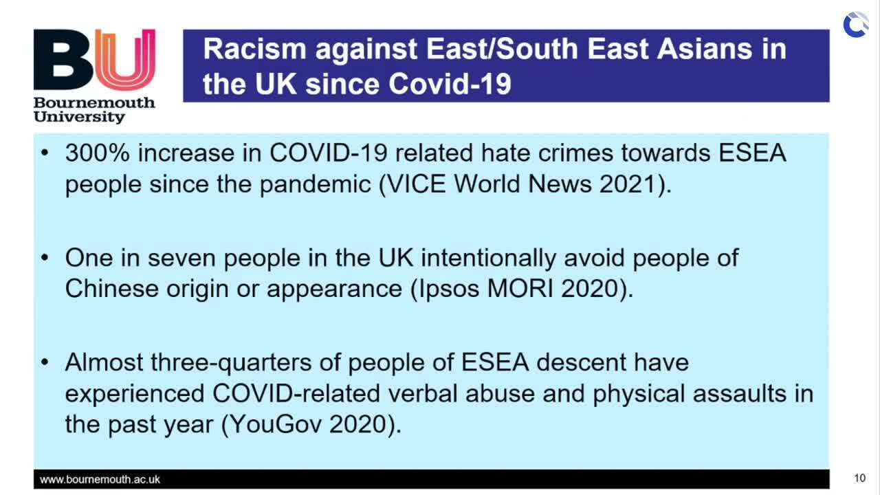 Racism against ESEA people in UK since Covid19 - Dr Lim