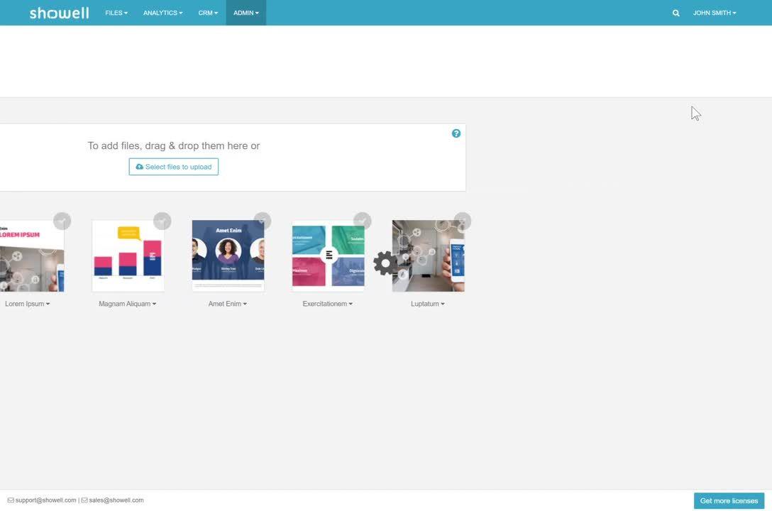Showell Admin - App version my settings_Trim
