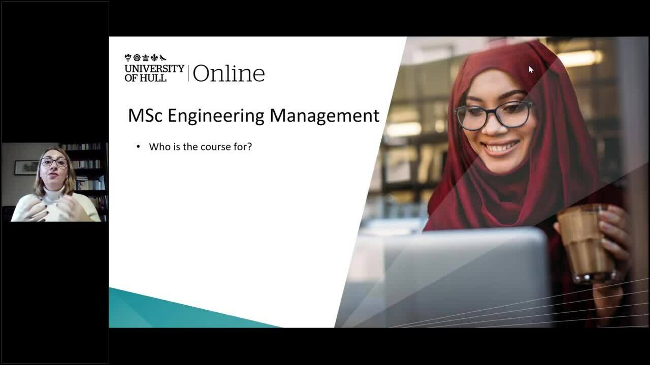 Why MSc in Engineering Management with Angeliki - updated 4th Jan 21