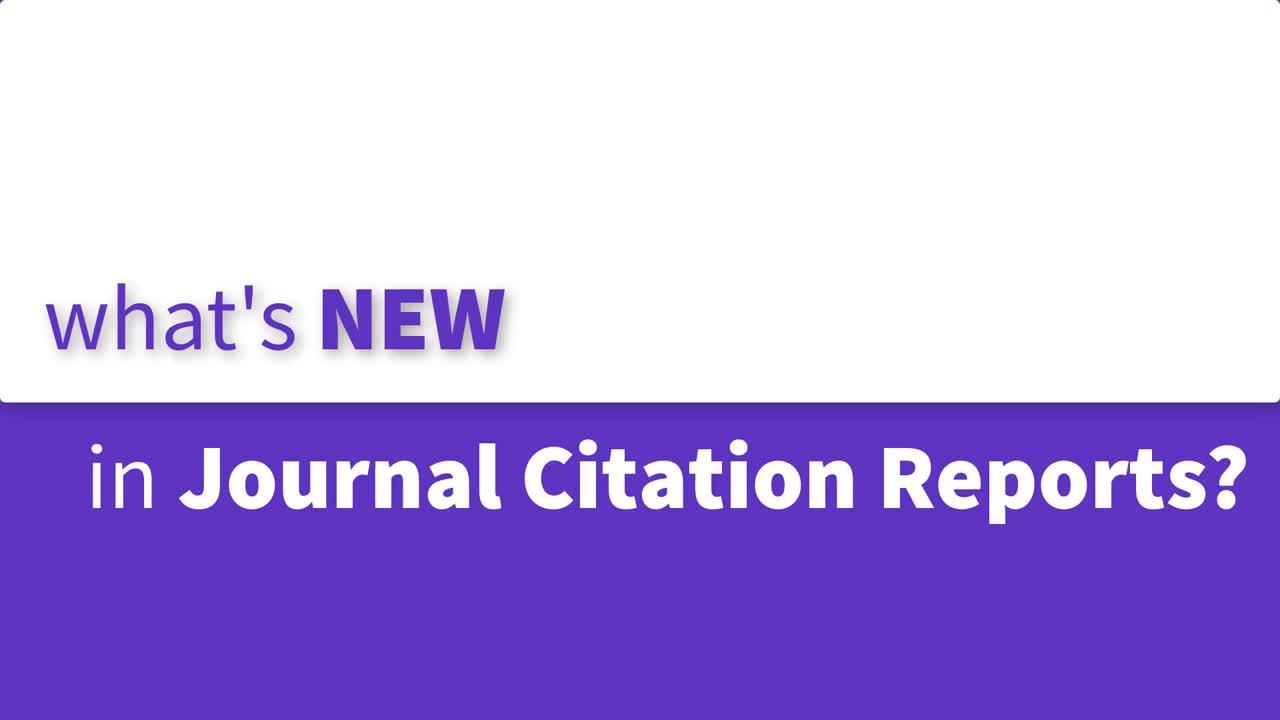 What S New In Journal Citation Reports