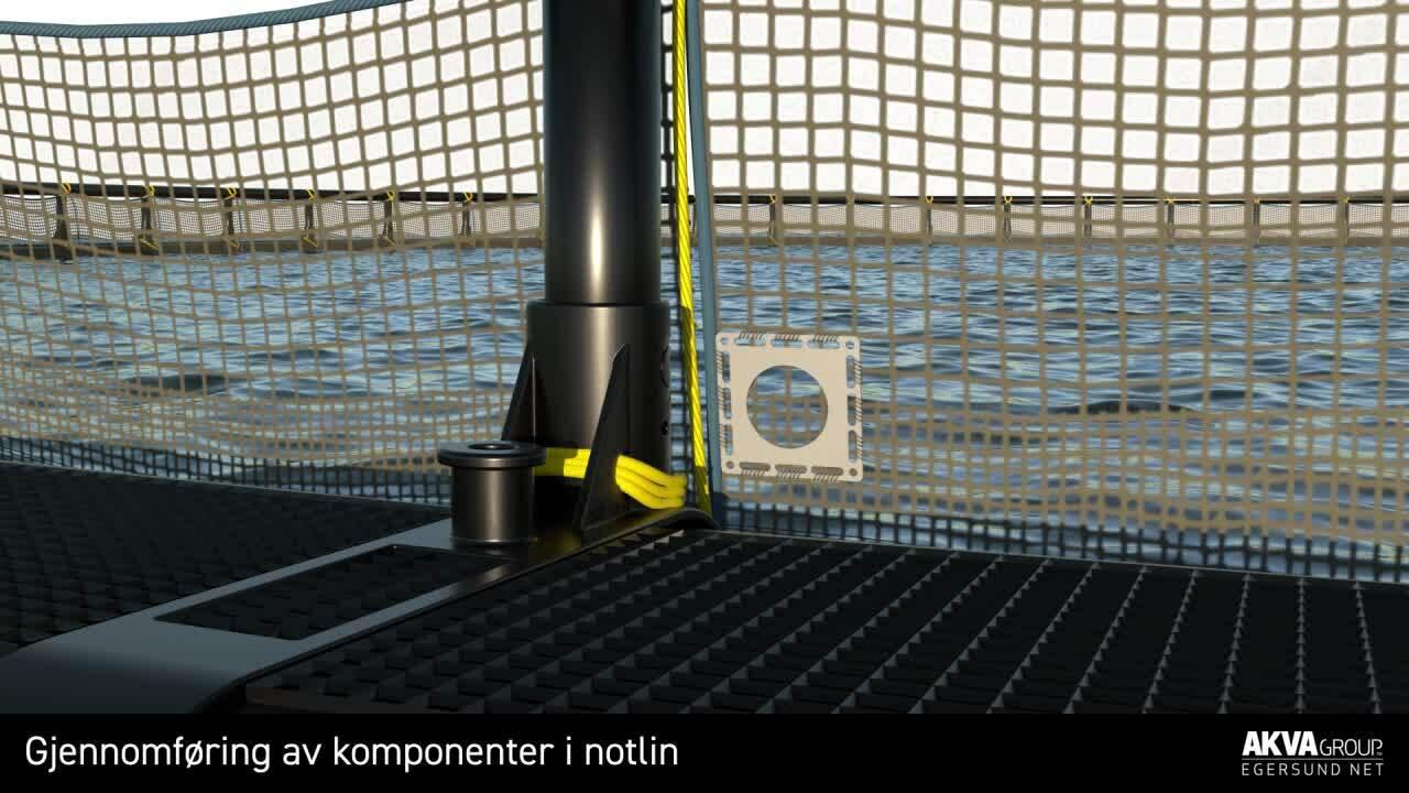 Gjennomføring av komponenter i notlin