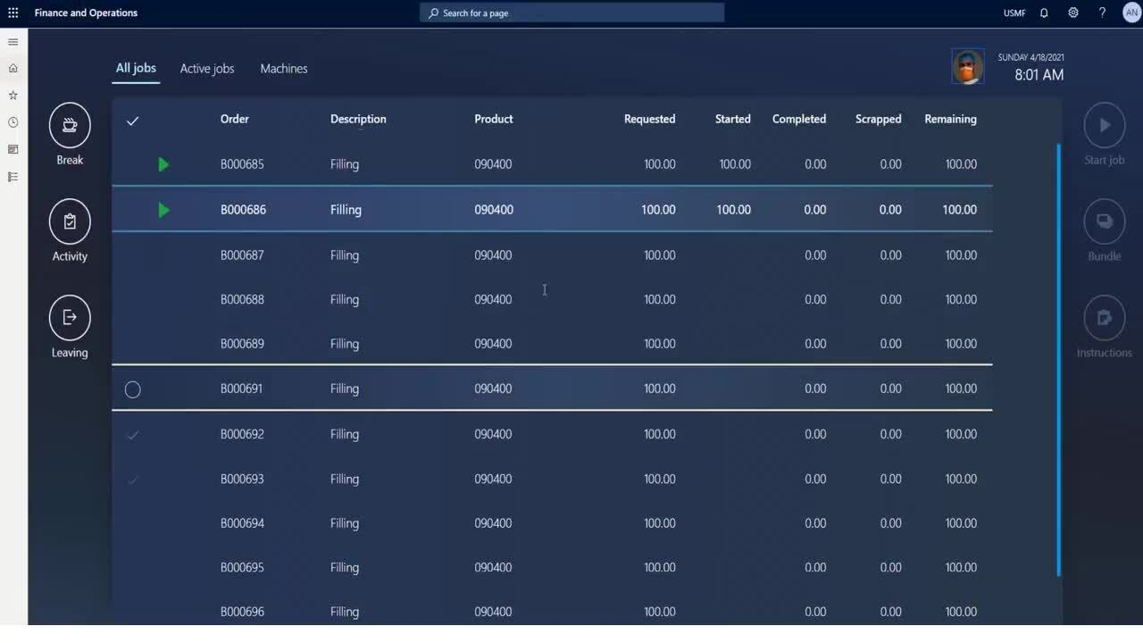DEMO_ New user interface for production floor execution