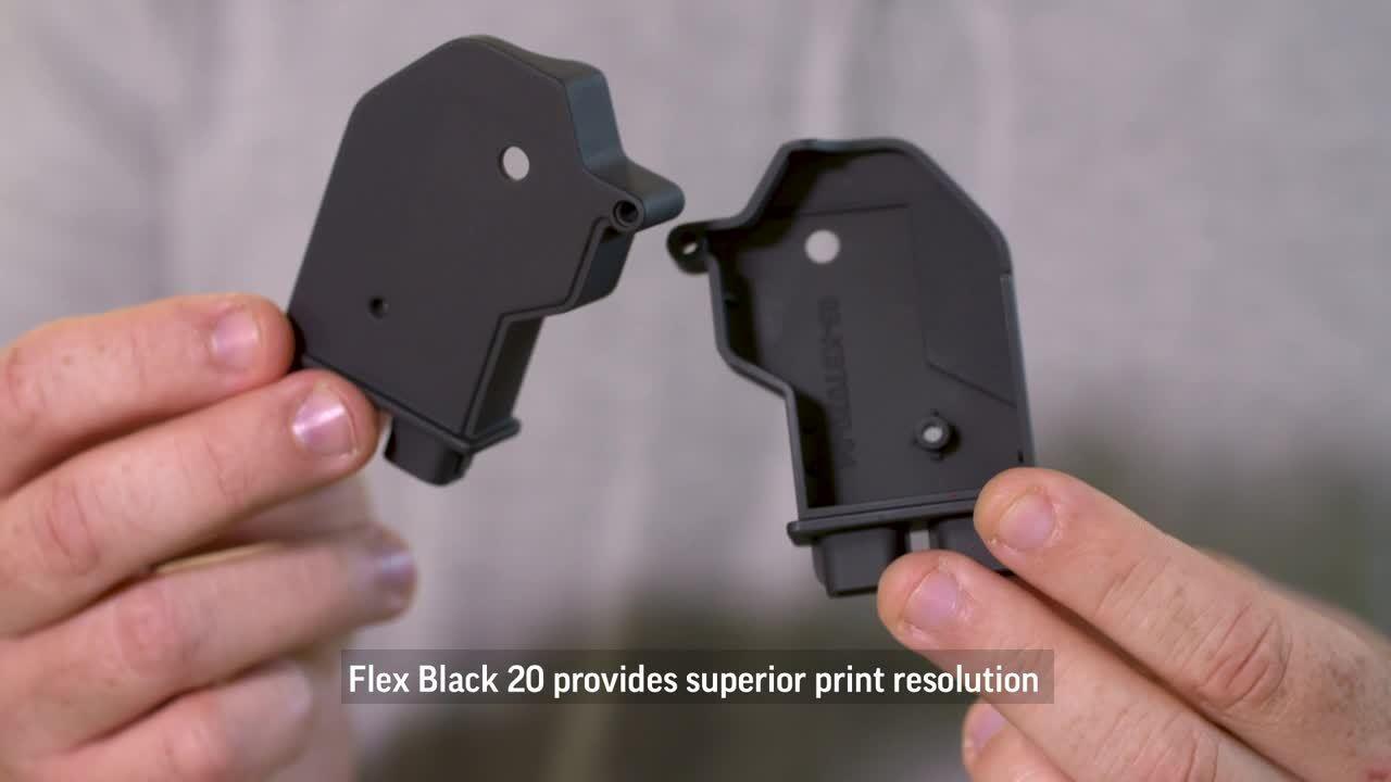 Polypropylene-Like | Figure 4™ FLEX-BLK 20 3D Printing Material