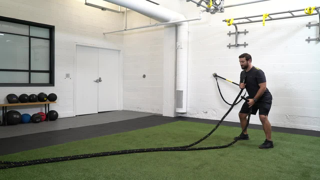 11 B CORE EXERCISE LIBRARY PULL Battle Rope Alternating Waves