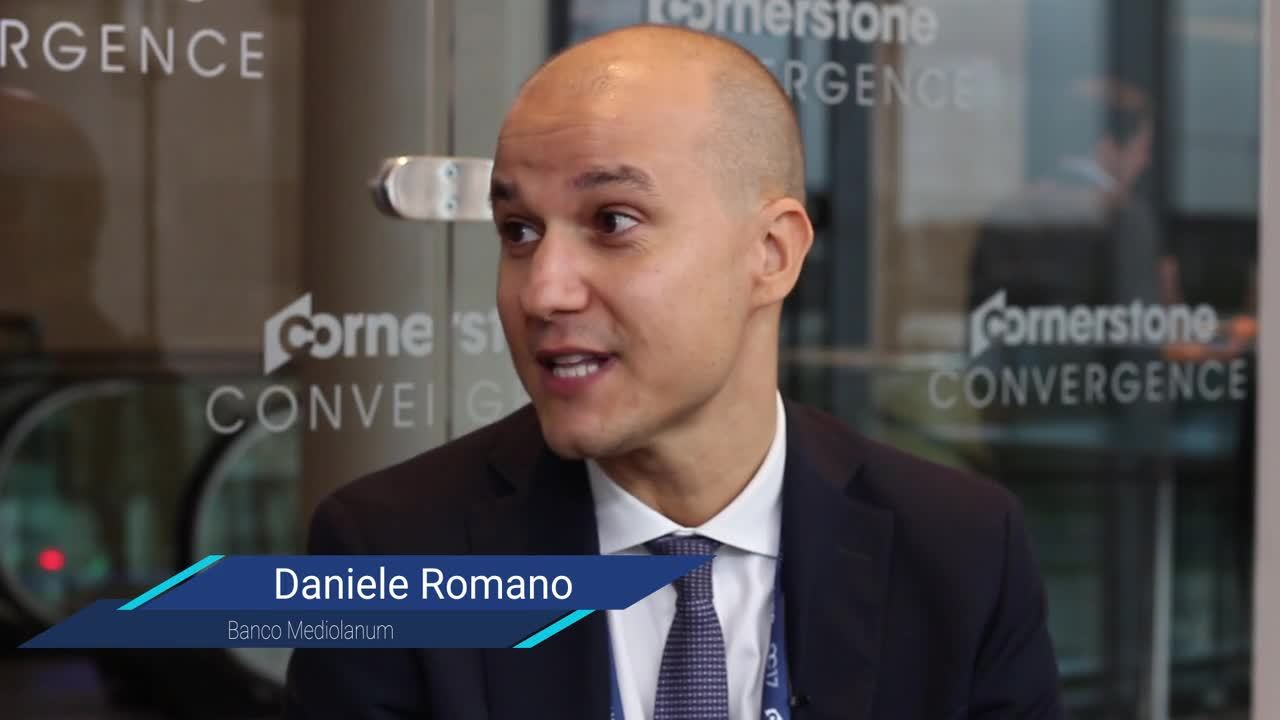 Live Interview with Daniele Romano, Banco Mediolanum from Convergence EMEA 2017
