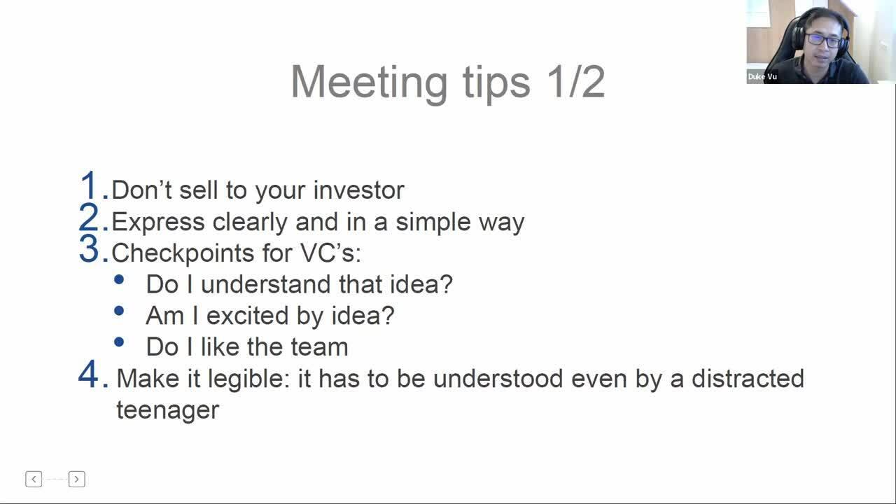 Fundraising - Meetings