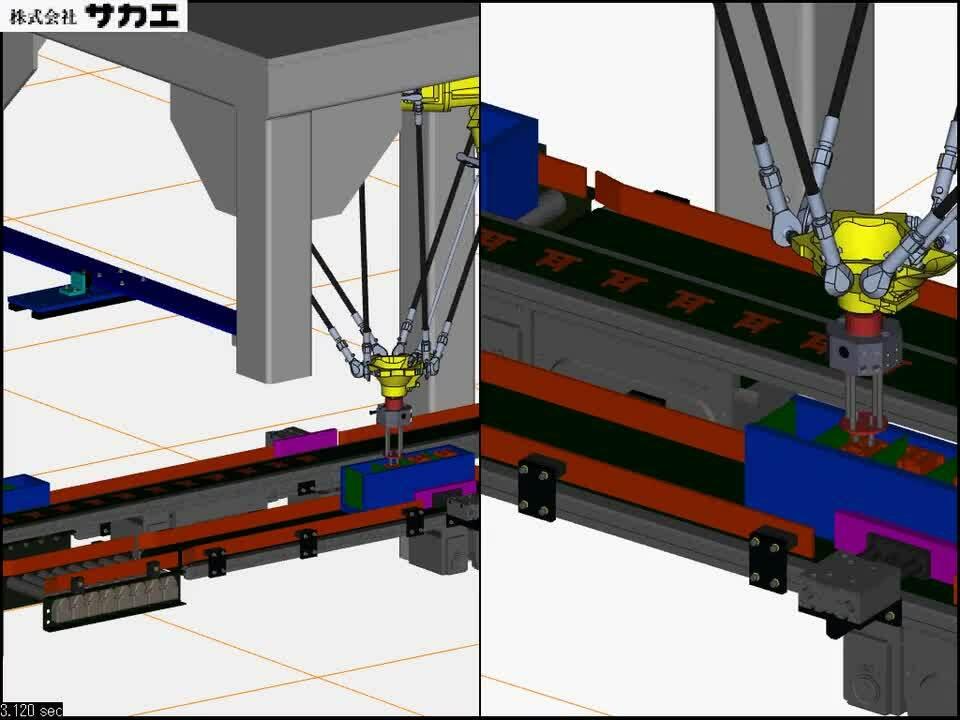 プレス板金の高速積み込み装置 M-2IA_3SL