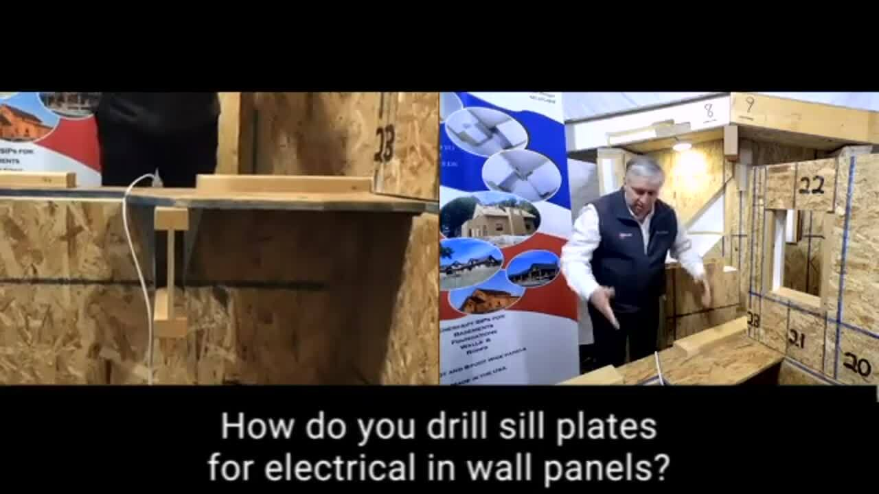 FAQ_Website_How do you drill sill plates for electrical in wall panels